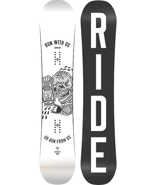 Ride X Sketchy Tank Burnout 157cm Wide Snowboard