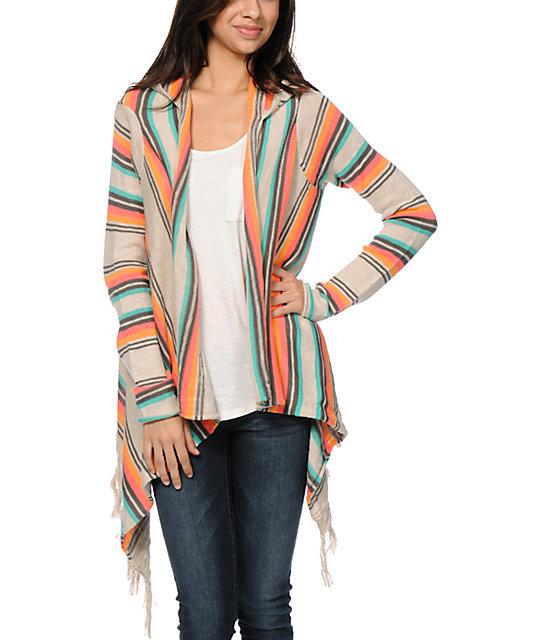 Rip Curl Driftwood Beige Hooded Cardigan Sweater | Zumiez