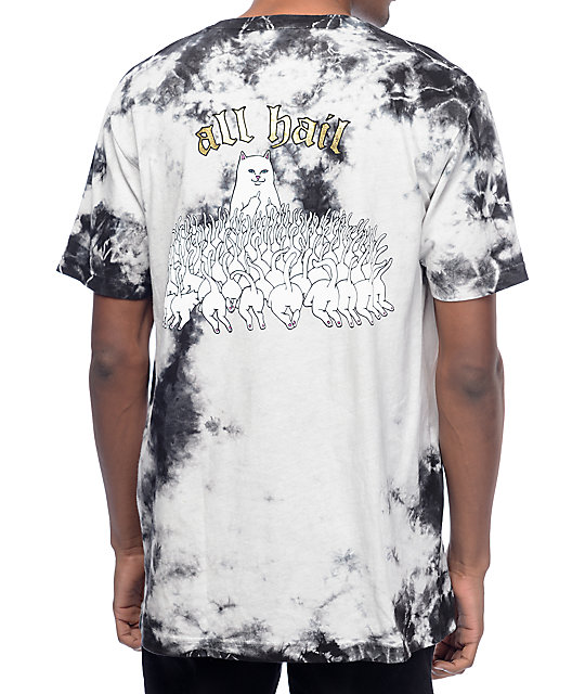 All Hail Lord Nermal Black Tie Dye T-Shirt