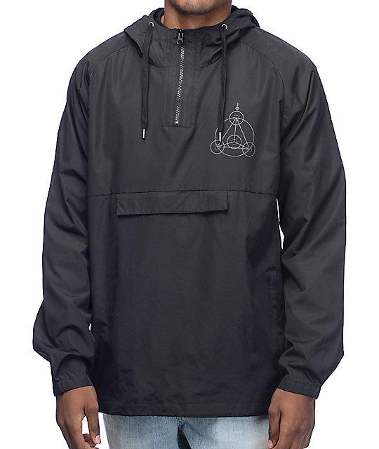 RipNDip Crop Circles Black Reflective Anorak Jacket at Zumiez : PDP