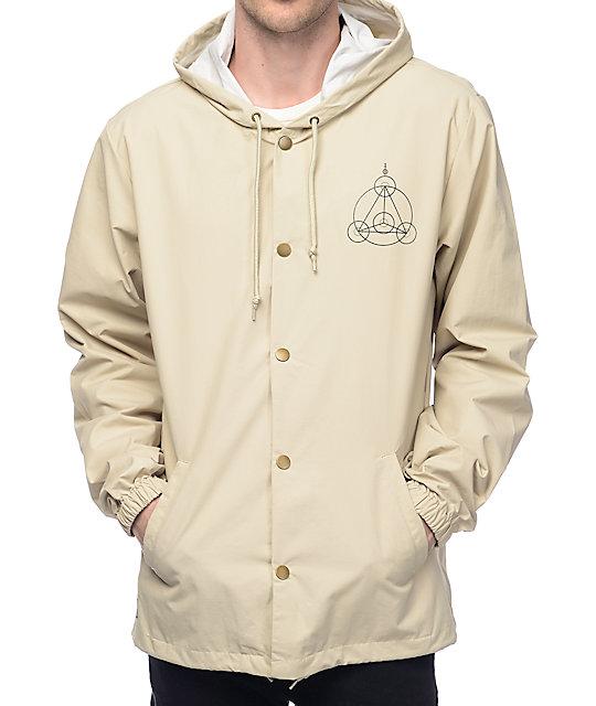 RipNDip Crop Circles Khaki Hooded Coach Jacket