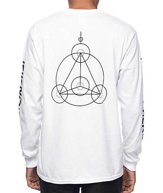 Crop Circles White Long Sleeve T-Shirt