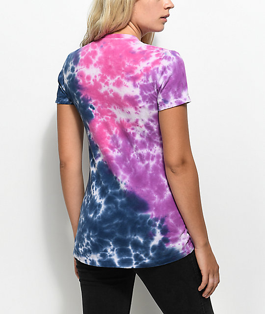 RipNDip Electranermal Purple, Pink & Blue Tie Dye Pocket T-Shirt