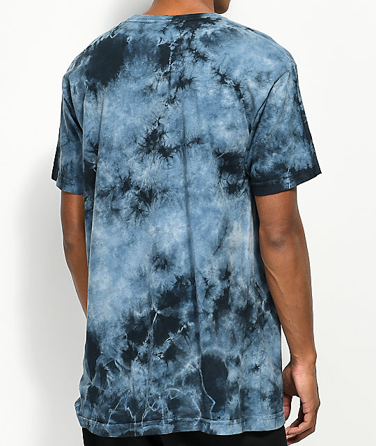 RipNDip Falling Electrocuted Nermal Deep Blue Tie Dye Pocket T-Shirt