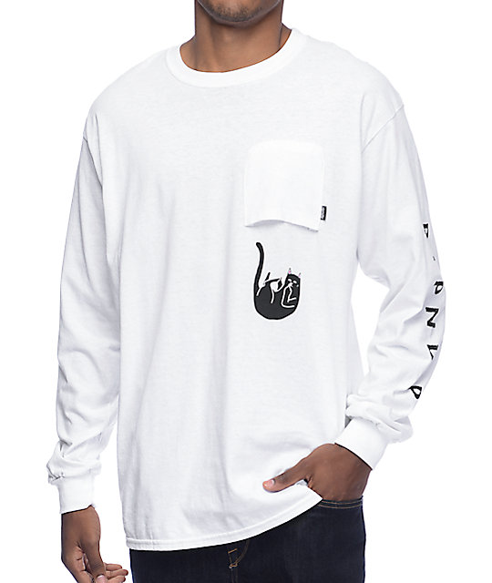 RipNDip Falling For Jermal Long Sleeve White T-Shirt at Zumiez : PDP