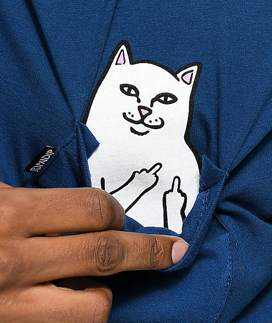 RipNDip Lord Nermal Blue Pocket T-Shirt