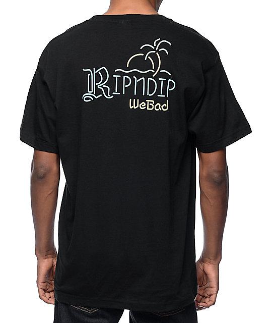 RipNDip Neon Curona Black T-Shirt