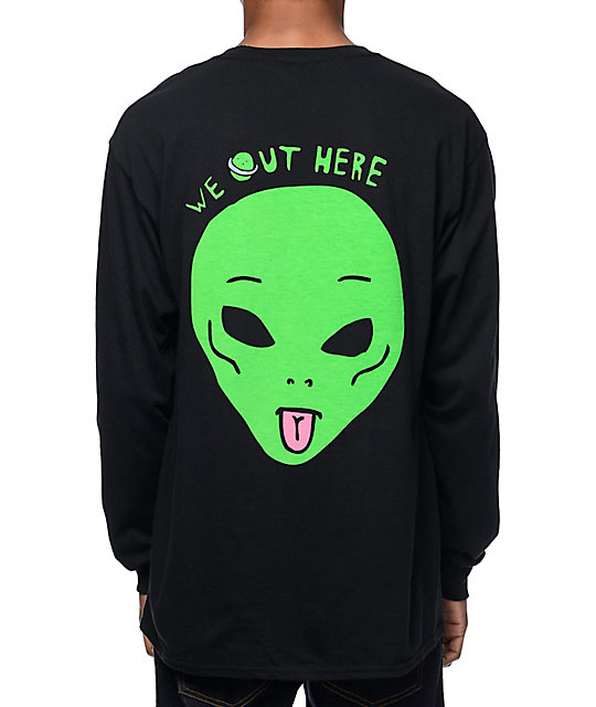 We Out Here Black Long Sleeve T-Shirt