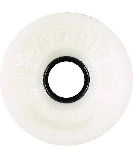 Road Rider White 68mm Skateboard Wheels