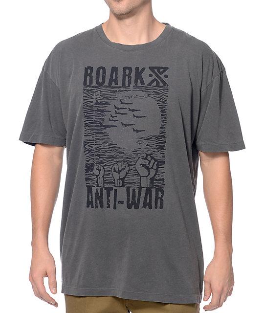 Roark Anti-War By Jamie Thomas Heather Black T-Shirt