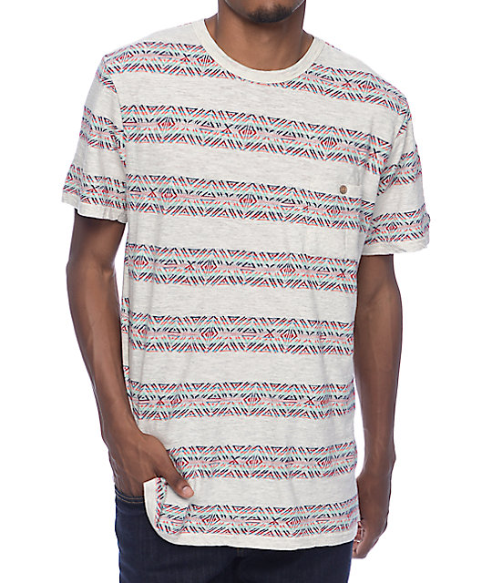 Roark Haida Jacquard Knit Natural T-Shirt