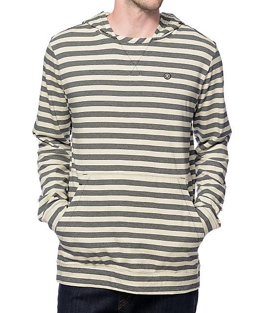 Roark Off Beat Natural Long Sleeve Hooded Shirt