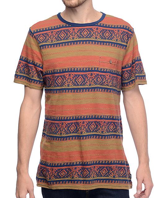 Roark Revival Salish Rust Jacquard Knit Pocket T-Shirt