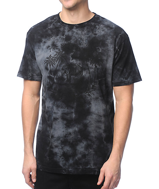 Roark rite of passage black tie dye t shirt for How do you dye a shirt