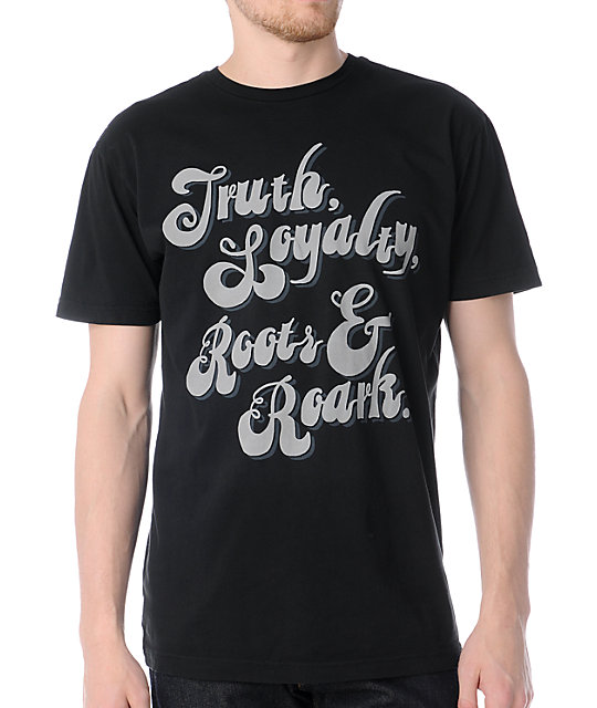 Roark Roadside Script Black T-Shirt