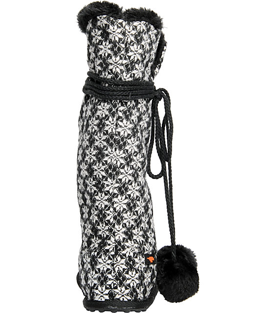 Rocket Dog Silver Black Snow Bunny Boot