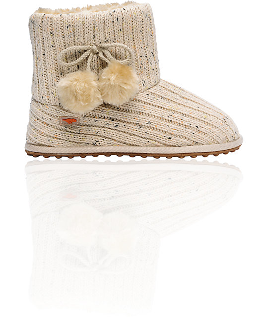 Rocket Dog Snowflake Natural Knit Slippers