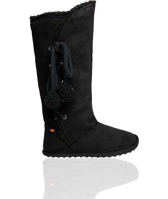 Rocket Dog Soto Black Suede Boot