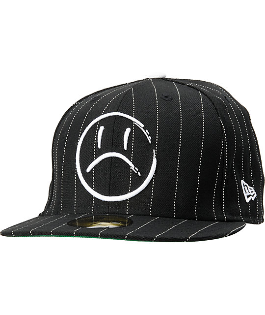 Rogue Status Money Shot Black & White Pinstripe New Era Fitted Hat