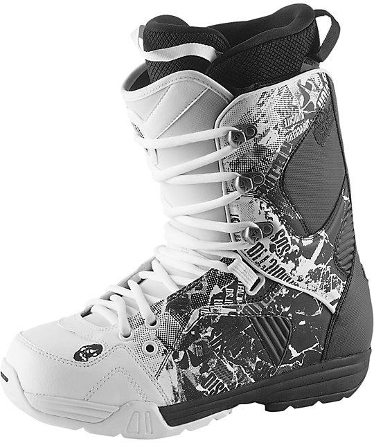 Rome Snowboards Libertine White & Black Snowboard Bootss