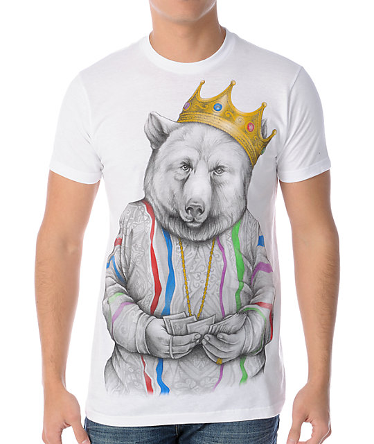 Rook Biggie Bear White T-Shirt