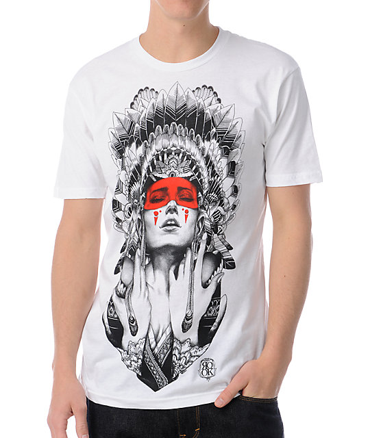Rook Night Shade White T-Shirt