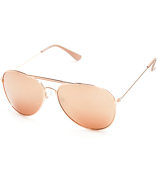 Rose Aviator Sunglasses