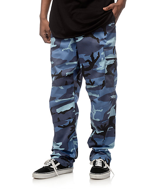 Awesome Caslon NEW Blue Camo Print Womens Size 0 Khakis Chinos Skinny Pants