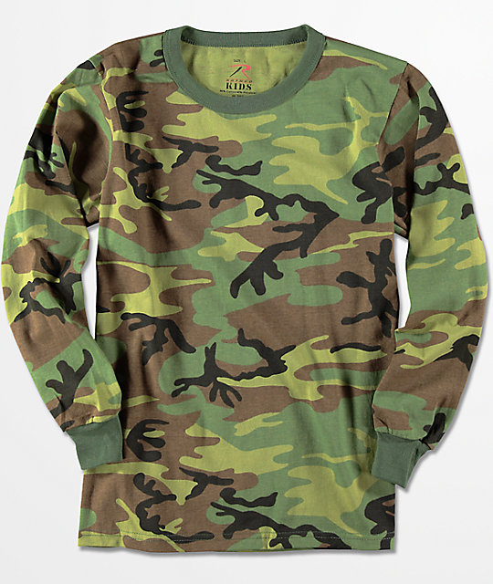 Rothco Boys Camo Long Sleeve T-Shirt