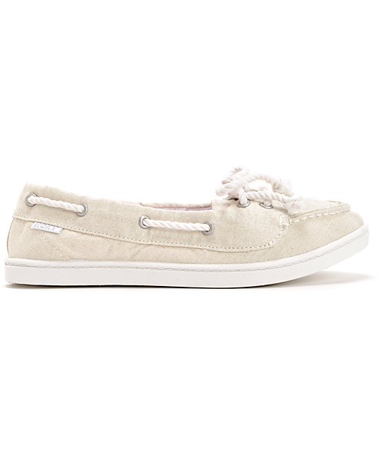 Roxy Ahoy II White Slip On Shoes