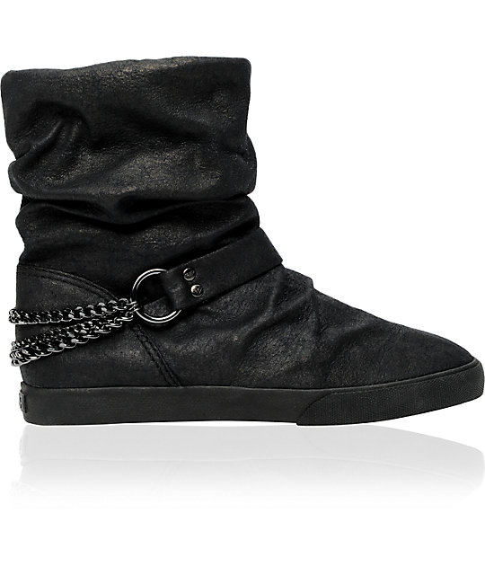 Roxy Detroit Black Chain Boot