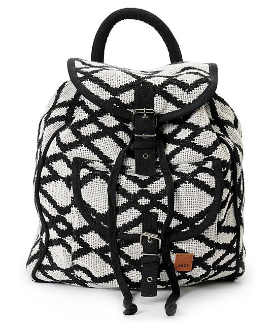 Roxy Drifter 2 Black & White Rucksack Backpack