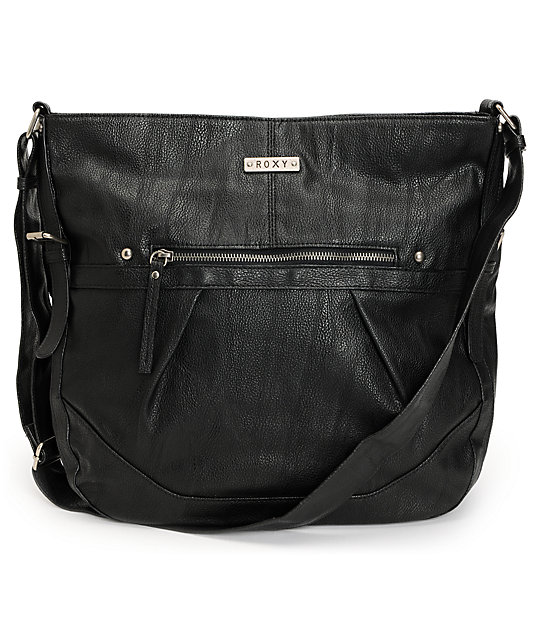 Roxy Easy Breezy Black Faux Leather Handbag