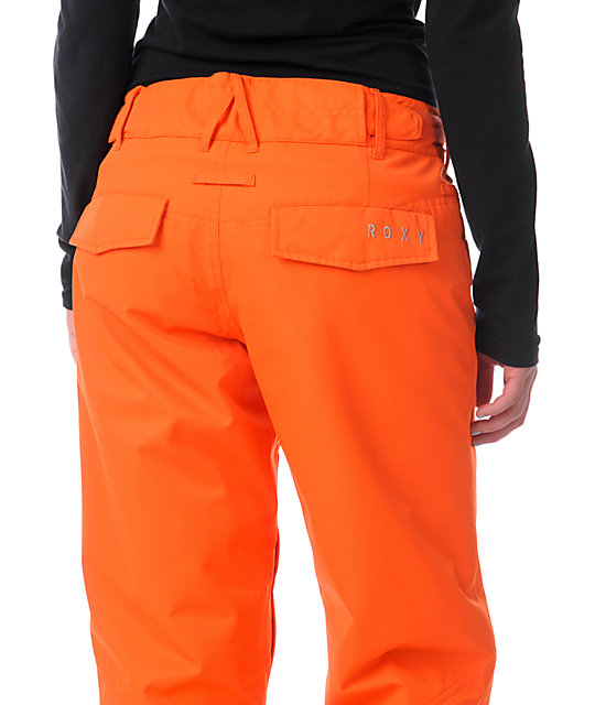 Roxy Evolution Bright Orange 8K Snowboard Pants