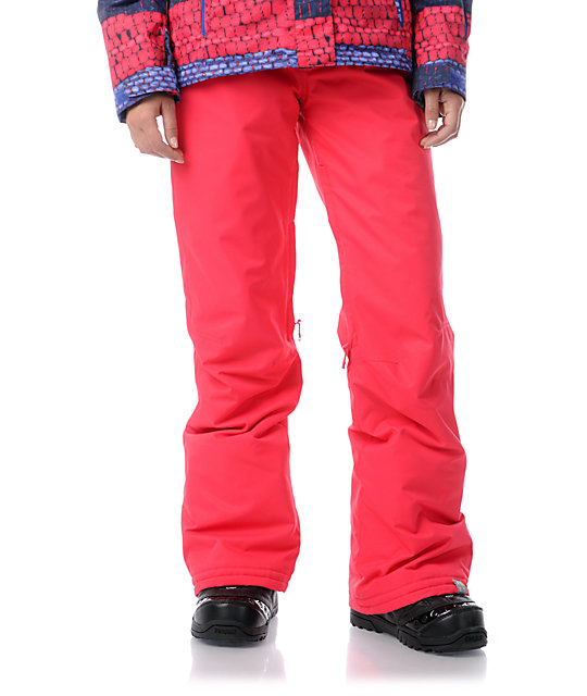Roxy Evolution Raspberry Pink 8K Snowboard Pants