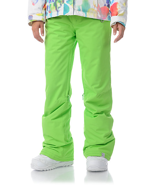 Roxy Evolution Wasabi Green 8K Snowboard Pants