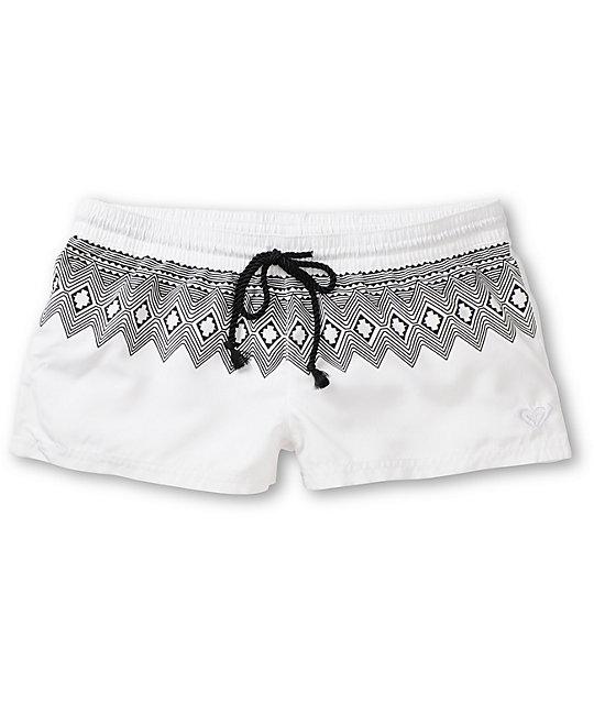 Roxy Free Sky White & Tribal Board Shorts