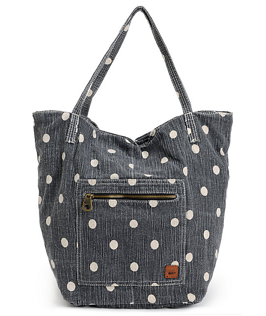 Roxy Heartland Blue Black Shoulder Bag