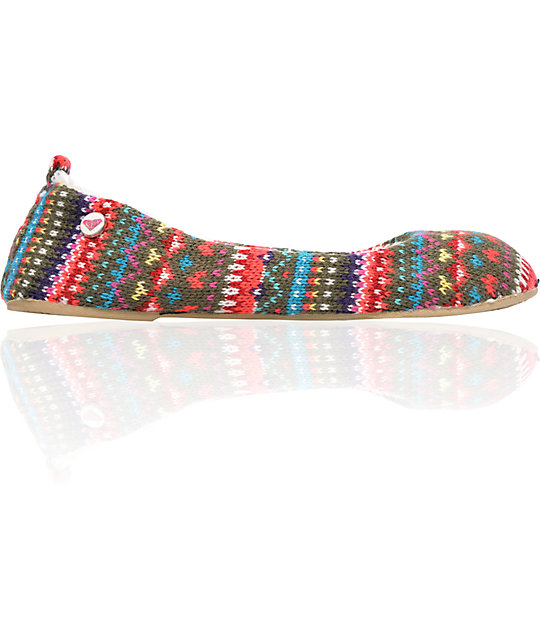 Roxy Hot Cocoa Multi Knit Slippers