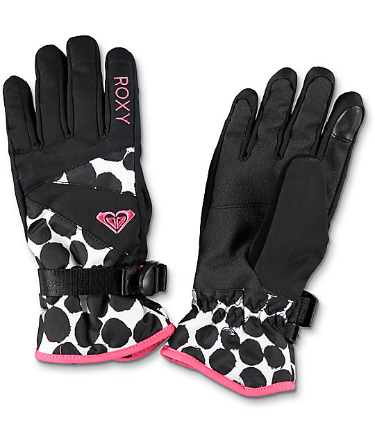 Roxy Jetty Irregular Dots Snow Gloves