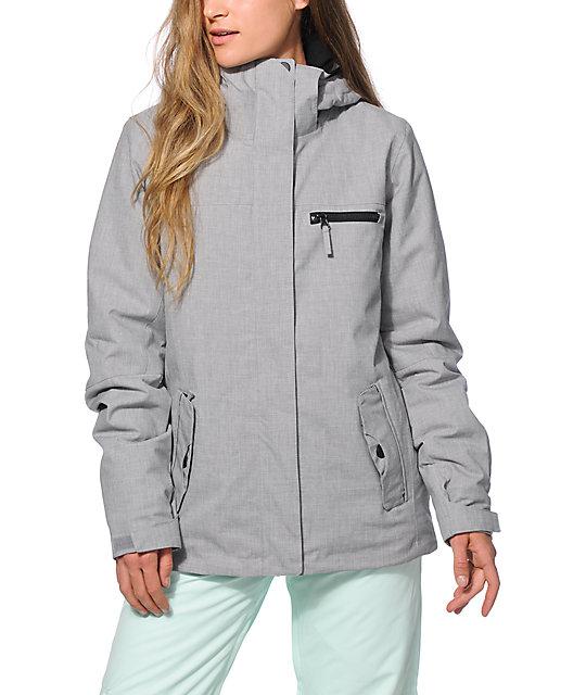 Roxy Jetty Solid Grey 10K Snowboard Jacket