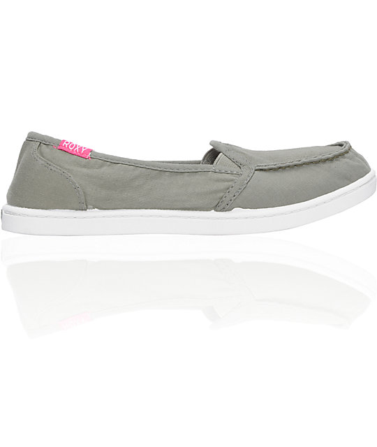 Roxy Lido Cruisers Olive Green Canvas Shoes