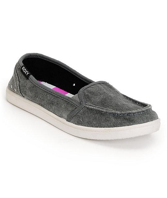 Roxy Lido II Grey Studded Slip On Shoes