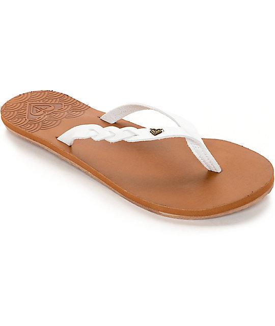 Roxy Liza White Sandals