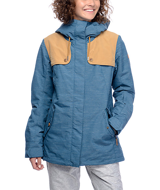 Roxy Lodge Teal & Khaki 10K Snowboard Jacket