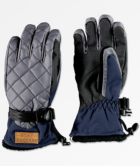 Roxy Merry Go Round Peacoat Snowboard Gloves