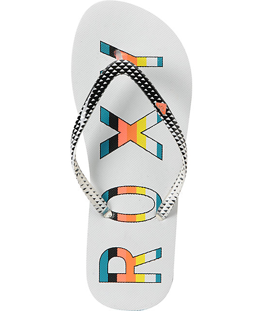Roxy Mimosa 3 Triangle Print Sandals