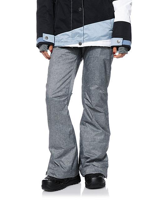 Roxy Nadia Grey Textile 10K Snowboard Pants