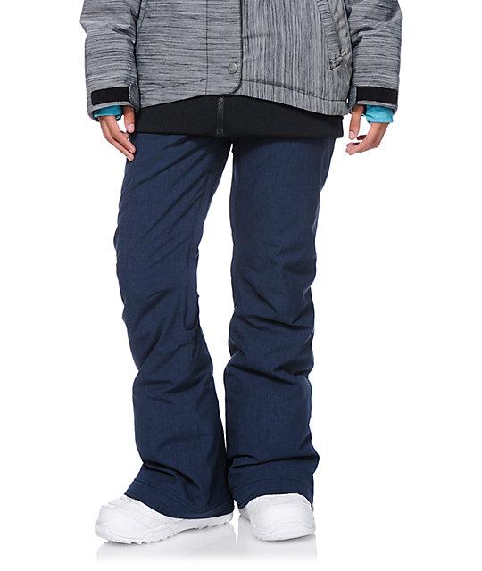 Roxy Nadia Navy Textile 10K Snowboard Pants