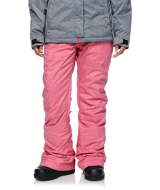 Roxy Nadia Red Textile 10K Snowboard Pants